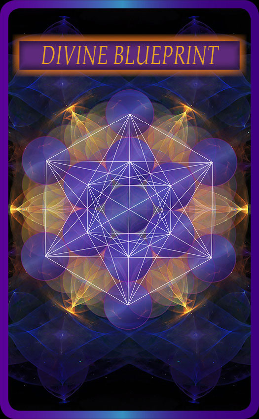 Sacred geometry 64 card oracle deck divine blueprint sacred dna keys to attain freedom humanity must realize hisher three modes of being the spiritual the psychic and the physical or as the bible refers to it spirit malvernweather Choice Image