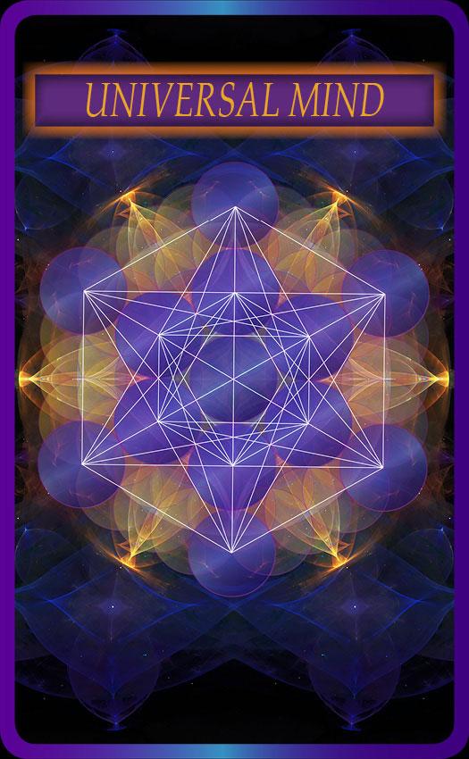 Universal Mind - Oracle Cards - Sacred Geometry - Vertical Image Back